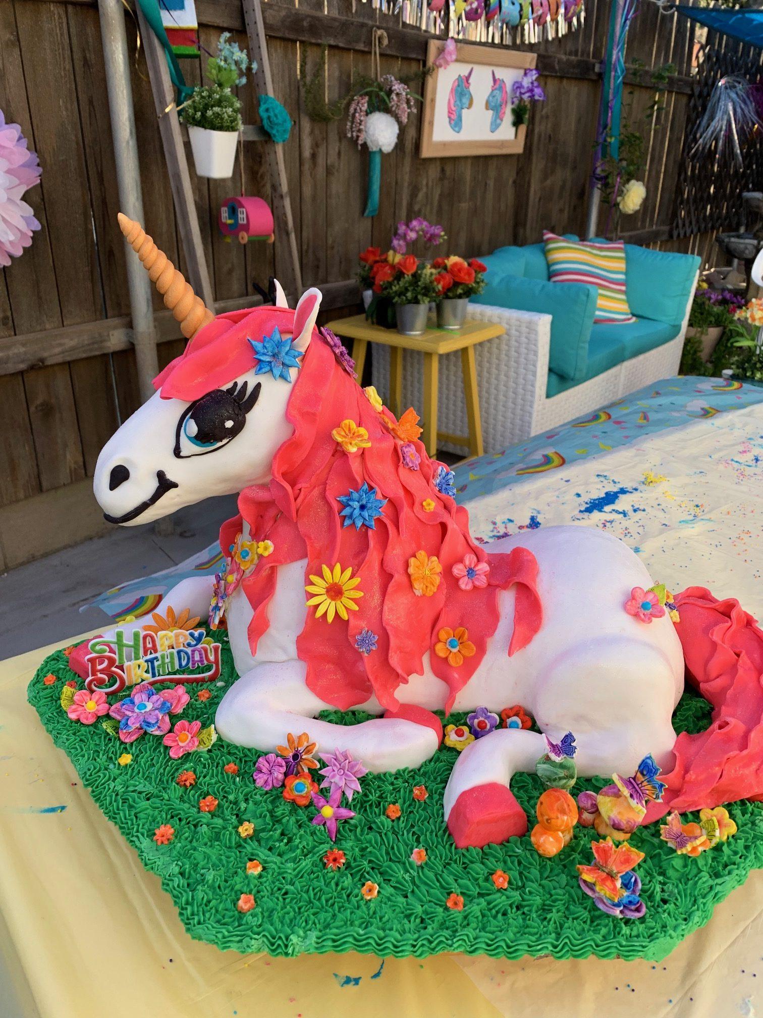 Unicorn Cake Magical Unicorn Cake By The Crafty Party Girls